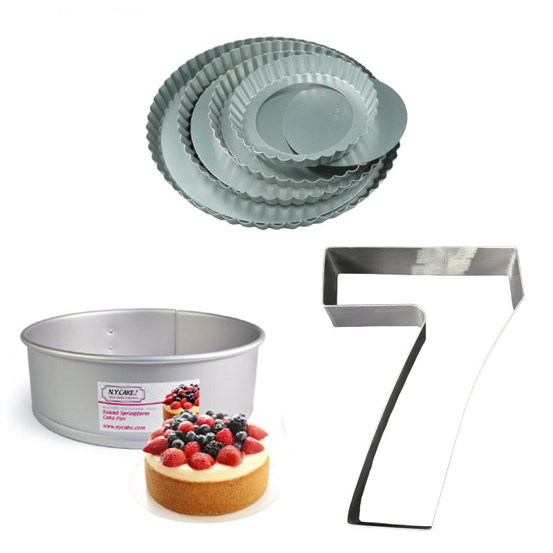 Cake Rings, Mousse Molds, Cheesecake, Tarts, Pies, Cooling Racks