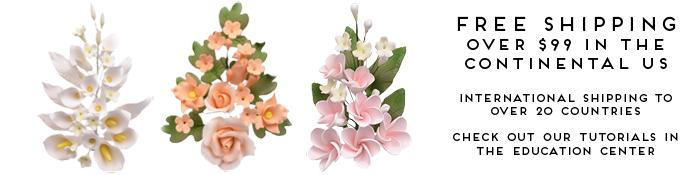 Sugar Flowers Gum Paste Flowers Decorations Ny Cake