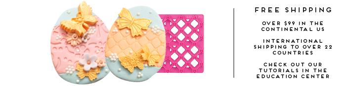 Fondant Silicone Impression Mats For Cakes Impression Pins Cake Supplies