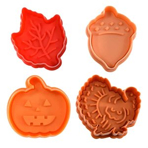 Autumn Pastry & Cookie Stampers (Set of 4)