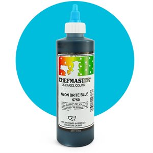 Neon Blue Airbrush Color 9 Ounce By Chefmaster