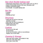 Silicone Baking Mat Toaster Oven 9 3 / 4 Inches x 7 3 / 4 Inches
