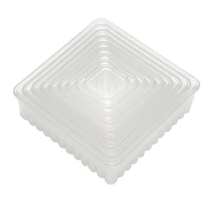 Fluted Square Cookie and Pastry Cutter