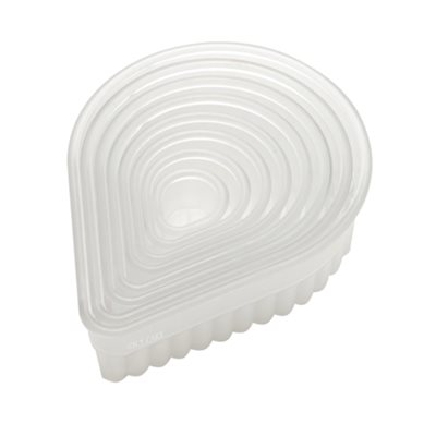 Fluted Teardrop Cookie and Pastry Cutter