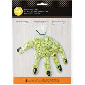 Halloween Hand-Shaped Clear Treat Bag - 15ct