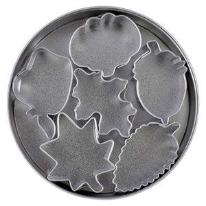 Mini Leaf Cookie Cutters 6pc