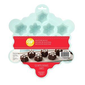 SILICONE SNOWFLAKE MINI TREAT MOLD, 12-CAVITY