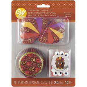 Turkey Cupcake Decorating Kit - Decorates 12 Cupcakes