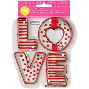 Love Cookie Cutter Set, 4-piece