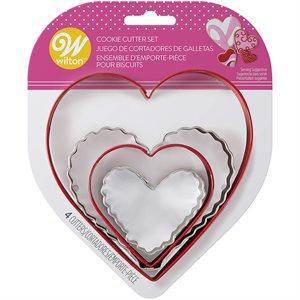 Nesting Heart Cookie Cutter Set, 4-piece