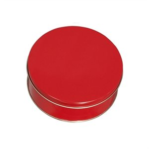 Red Cookie Tin 7 Inch