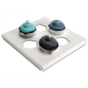 White Mini Cupcake Insert Only Holds 6 mini cupcakes