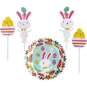 Easter Bunny Combo Pack Cupcake Liners- 24 sets By Wilton