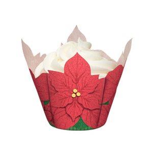 Poinsettia Baking Cups 15 Pcs