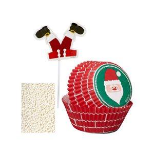 Santa Cupcake Decorating Kit