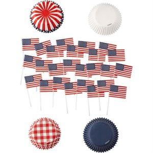 Patriotic Cupcake Liner Pack- 125 pcs By Wilton