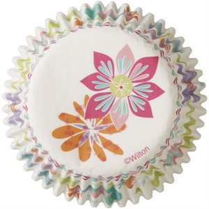 Spring Flowers Baking Cups By Wilton