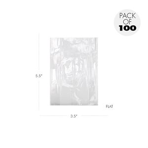 Cellophane Bags 3 X 5 1 / 2 Inch Flat Pack of 100