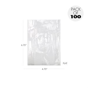 Cellophane Bags 6 3 / 4 x 4 3 / 4 Inch Flat Pack of 100