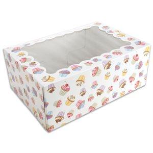 Cupcake Design Cupcake Box Holds 6 Standard Cupcakes