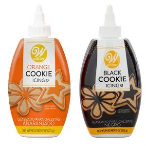 Orange & Black Cookie Icing Set - 2 Pack