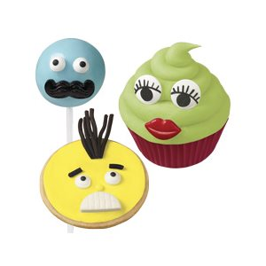 Moustache,Lips & Teeth Candy Decorations