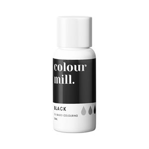 Black Oil-Based Coloring - 20mL By Colour Mill
