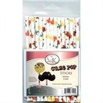 Fall Leaves Cake Pop Sticks- 6 Inch -Pack of 25