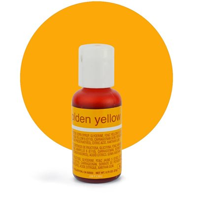 Golden Yellow Liqua-Gel Color - .70 ounce By Chefmaster
