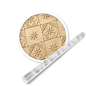 Quilted Flower Mini Impression Rolling Pin