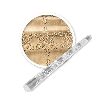 Crystal Snowflakes Mini Impression Rolling Pin