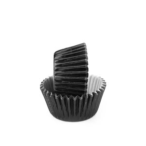 Black Foil Mini Cupcake Baking Cup Liner