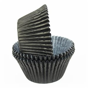 Black Greaseproof Jumbo Cupcake Baking Cup Liner