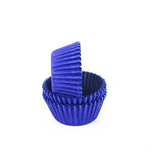 Blue Mini Cupcake Baking Cup Liner