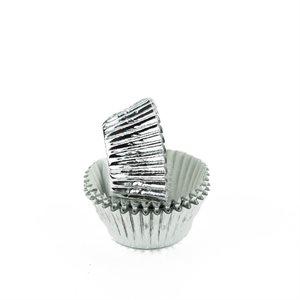 Silver Foil Mini Cupcake Baking Cup Liner