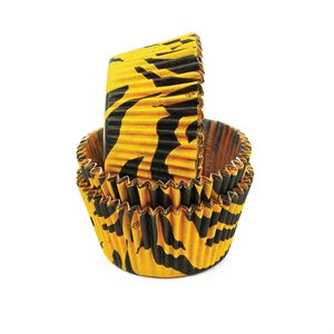 Zebra Stripe Orange Standard Cupcake Baking Cup Liner