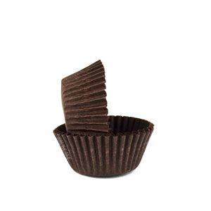 Brown Mini Cupcake Baking Cup Liner