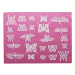 Beautiful Butterflies Large Cake Lace Mat By Claire Bowman