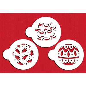 Christmas Balls Cookie Stencil