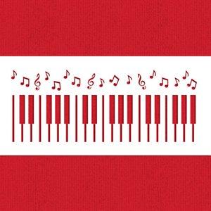 Piano Keys Cake Stencil