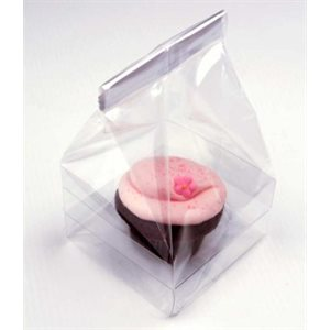 Cupcake Bag Standard Holds 1 Cupcake 4 x 4 x 7 Inch Pack of 100
