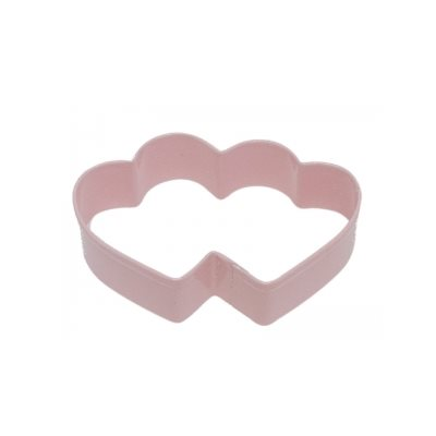 Double Heart Cookie Cutter Poly Resin 3 3 / 4 Inch