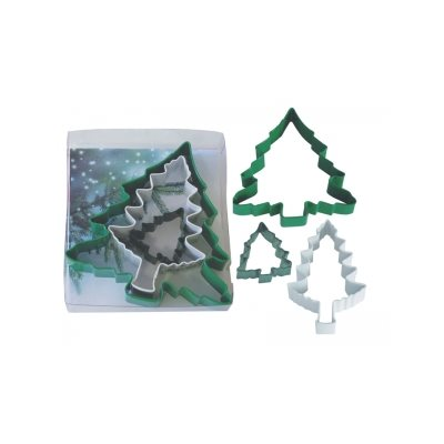 Christmas Tree Cookie Cutter Set Poly Resin 3 Pcs.