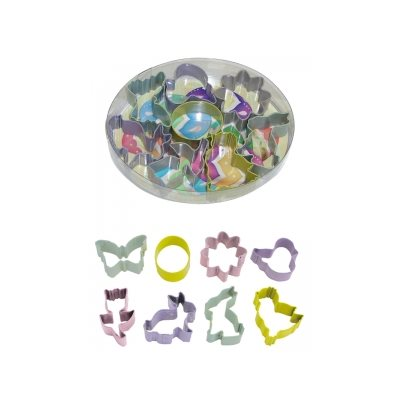 Mini Easter Cookie Cutter Set Poly Resin 8 Pcs.