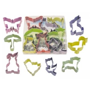 Easter Cookie Cutter Set Poly Resin 8 Pcs.