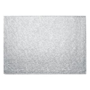 14 X 19 Inch Rectangle Silver Cake Board 1 / 2 Inch Thick