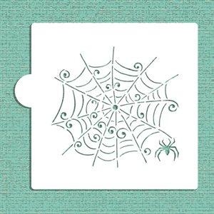 Whimsical Spiderweb Cookie Stencil