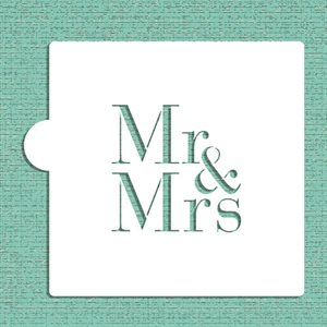 Mr & Mrs Cookie Stencil