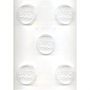 Boo Cookie Chocolate Mold 2 Inch