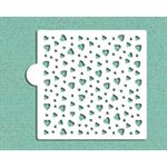 Heart Mini Print Cookie Stencil